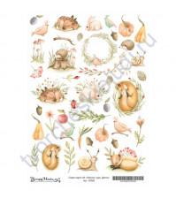 Скрап-карта А4 Детки, коллекция Лесное чудо, без клеевого слоя