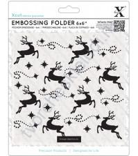Папка для эмбоссинга Северные олени, размер 15х15 см