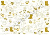 Пленка с золотым рисунком для декора, коллекция My Gardening, толщина 0.25 мм, формат А4