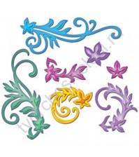Набор ножей для вырубки и тиснения Floral Flourishes, 7 элементов