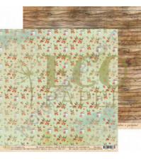 Бумага для скрапбукинга двусторонняя 30.5х30.5 см, 250 гр/м, коллекция Бабушкин сад, лист Дачное лакомство