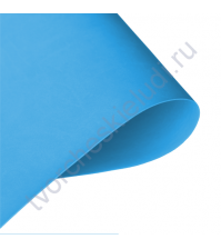 Кожзам переплетный на полиуретановой основе плотность 230 гр/м2, 50х70 см, цвет F003 - лазурный