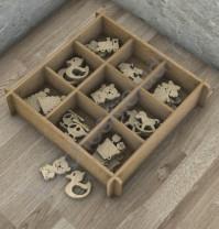 Декоративные элементы из дерева Детский-5, 9 элементов