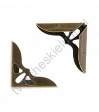 Уголок металлический для альбомов и блокнотов 31х31х5 мм, цвет бронза, цена указана за 1 штуку