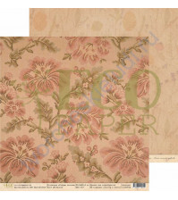Бумага для скрапбукинга двусторонняя 30.5х30.5 см, 250 гр/м, коллекция Старые письма, лист Гобелен