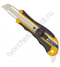 Нож канцелярский Attache Selection с резиновыми вставками, ширина лезвия 18 мм