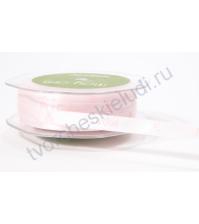 Лента атласная 12 мм с рисунком Its a girl, цвет нежно-розовый, 1 метр