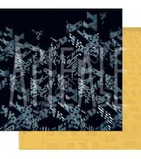 Бумага для скрапбукинга двусторонняя, коллекция ФОНОteka II, 30.5х30.5 см плотность 190г/м, лист Отражения