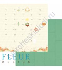 Лист бумаги для скрапбукинга Алфавит, коллекция Дыхание осени, 30х30 см, плотность 190 гр