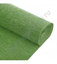 Гофрированная бумага плотность 144 гр/м2, 50см х 2.5м, цвет 562-оливковый