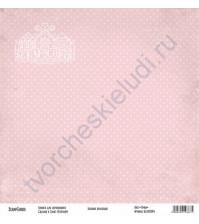 Бумага для скрапбукинга односторонняя, коллекция Базовая розовая, 30х30 см, 250 гр/м2, лист Точки