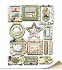 Набор декоративных рамок с фольгированием, коллекция Family Tree, 25 шт