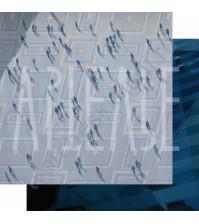 Бумага для скрапбукинга двусторонняя, коллекция GOрод GOворит, 30.5х30.5 см плотность 190г/м, лист Броуновское движение
