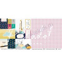 Бумага для скрапбукинга двусторонняя 30.5х30.5 см, 190 гр/м, коллекция В детском мире, лист Карточки