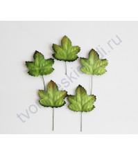 Листья кленовые зеленые, 3х3 см, 10 шт