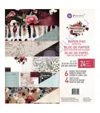 Набор двусторонней бумаги с фольгированием Midnight Garden, 30.5х30.5 см, 24 листа (ЦЕНА УКАЗАНА ЗА 1/2 ЧАСТЬ НАБОРА - 12 листов)