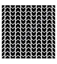 Трафарет пластиковый многоразовый Шеврон, 15.2х15.2 см, толщ. 0.31 мм
