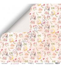 Бумага для скрапбукинга двусторонняя 30.5х30.5 см, 190 гр/м, коллекция So Loved, лист Кролики