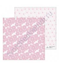 Бумага для скрапбукинга двусторонняя 30.5х30.5 см, 180 гр/м2, лист Спирали