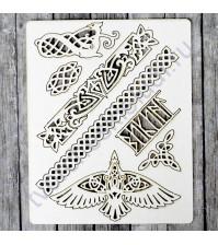 Набор чипборда Орнамент, коллекция Викинги, размер 11.5х16.5 см