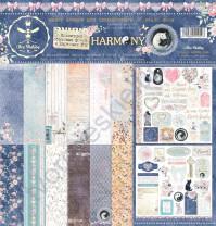 Набор двусторонней бумаги для скрапбукинга Harmony, 30.48х30.48 см, 190 гр/м, в наборе 8 двусторонних листов + лист бонус (оборот обложки)