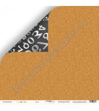 Бумага для скрапбукинга двусторонняя 30.5х30.5 см, 190 гр/м, коллекция School Days, лист Доска