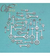 Набор чипборда Старинные ключи, 30 элементов