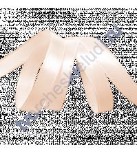 Лента атласная 12 мм, цвет розовоперсиковый-002, 1 метр