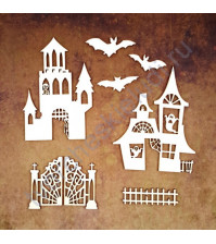 Чипборд Набор Таинственный замок, 8 элементов