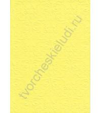 Лист бумаги для скрапбукинга с эмбоссированием (тиснением) Дамасский узор, А4, 160 гр, цвет ярко-желтый