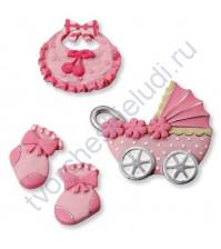 Набор декоративных элементов Baby girl2, полимерная смола, 2.5-4 см, 4 шт