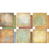 Набор двусторонней бумаги для скрапбукинга Медовый пунш, 6 листов, размер 30.3х30.3 см, 200 г/м