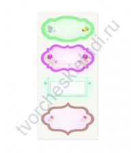 Тканевые стикеры Полуденный чай-2, 9.5х20см