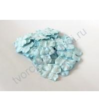 Лепестки гортензии большие 5 см, 10 шт, цвет голубой