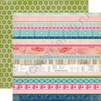 Бумага для скрапбукинга двусторонняя коллекция Sew Lovely Collection, 30.5х30.5 см, 180 гр/м, лист Border Strips