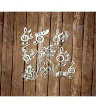 Чипборд Набор скрипичных ключей, 9 элементов