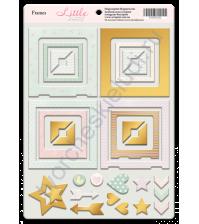 Набор декоративных элементов из чипборда с фольгированием, коллекция Little Bunny, 30 шт