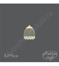 Чипборд Клетка птичья-3 маленькая, 3.8х5 см