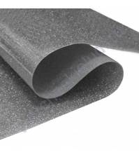 Термотрансферная пленка глиттер, цвет Темное серебро, 25х25 см (+/- 2 см)