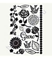 Набор клеевых дизайнов для фольгирования Florals, 16 элементов