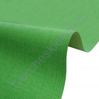 Кожзам переплетный с тиснением под холст на полиуретановой основе плотность 230 гр/м2, 50х70 см, цвет F349-зеленый