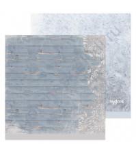 Бумага для скрапбукинга двусторонняя 30.5х30.5 см, 190 гр/м, лист Зимние досочки