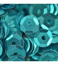Пайетки круглые с матовым эффектом 6 мм, 10 гр, цвет бирюзовый
