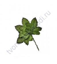 Листья кленовые зеленые, 5х4,5 см