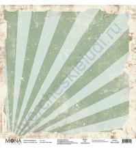 Бумага для скрапбукинга односторонняя Ретро кафе, 30.5х30.5 см, 190 гр/м, лист Лучи