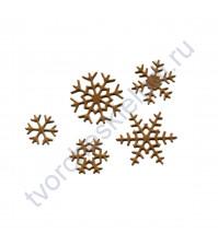 Набор вырубки из дизайнерской бумаги Снежинки-9, 5 элементов, цвет в ассортименте