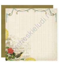 Бумага для скрапбукинга двусторонняя коллекция Harmony, 30.5х30.5 см, 220 гр/м, лист Spirit
