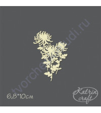 Чипборд Хризантемы, 6.8х10 см