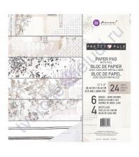 Набор двусторонней бумаги с фольгированием Pretty Pale, 30.5х30.5 см, 24 листа (ЦЕНА УКАЗАНА ЗА 1/2 ЧАСТЬ НАБОРА - 12 листов)