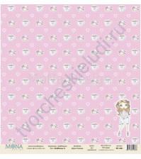 Бумага для скрапбукинга односторонняя DollHouse, 30.5х30.5 см, 190 гр/м, лист DollHouse-7
